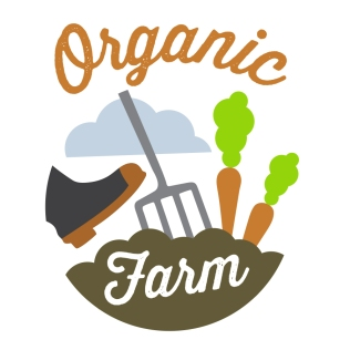 $450: Here we have a charming and energetic logo that would be a great fit for an organic farming business or a health food store. The boot digging the pitchfork into the earth suggests a hands-on artisanal approach to farm to table.