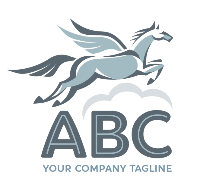 $500: The pegasus represents freedom and inspiration. This logo will work well for a life coach or financial advisor.