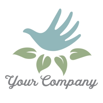 "$300: Do you have a home décor or handmade spa products business? This charming logo features a hand that doubles as a bird in a nest of leaves, a visual representation of the expression ""a bird in the hand is worth two in the bush""."