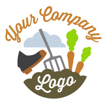 $300: Here we have a charming and energetic logo that would be a great fit for an organic farming business or a health food store. The boot digging the pitchfork into the earth suggests a hands-on artisanal approach to farm to table.