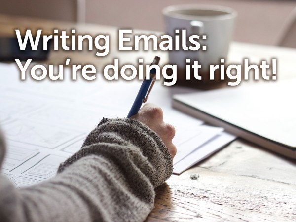 Writing Business Emails - Hand Writing