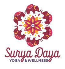 Surya Daya Yoga & Wellness is an established studio in Almonte, Ontario, taken over by its lovely new owner in 2018, who wished to make it her own with a rebrand. I was delighted to hear that she was quite set on having a ring of elephants for her new logo, surrounding a sun mandala.