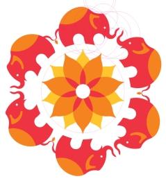 Logo Development - Elephants & Flower