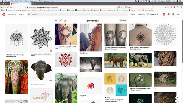 The Surya Daya Pinterest inspiration board