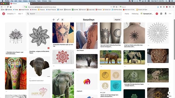 The Surya Daya Pinterest inspiration board