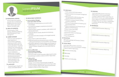 Professional resume designed for a client to showcase their accomplishments and strengths.