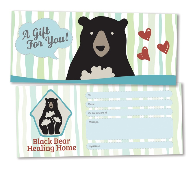 Gift certificate design for a local organization offering sign language for babies.