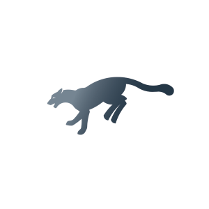 Leaping Mountain Lion Logo