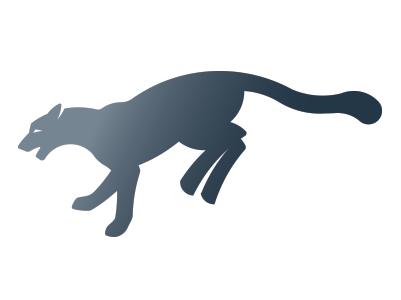 Leaping Mountain Lion Logo
