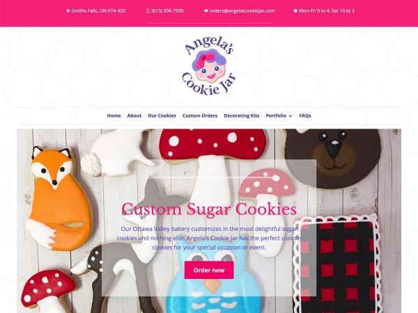 Ottawa Web Design - Angela's Cookie Jar