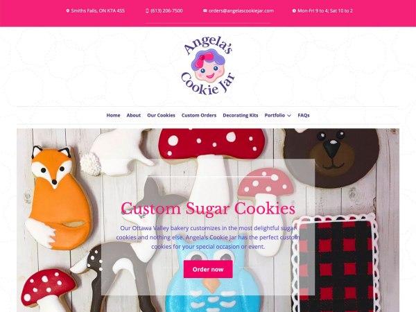 Ottawa Web Design - Angela's Cookie Jar