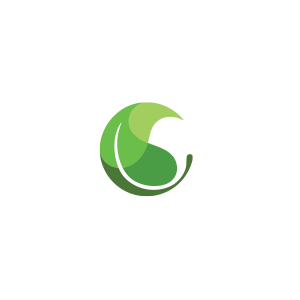 Premium Readymade Logos - Curled Leaf Logo
