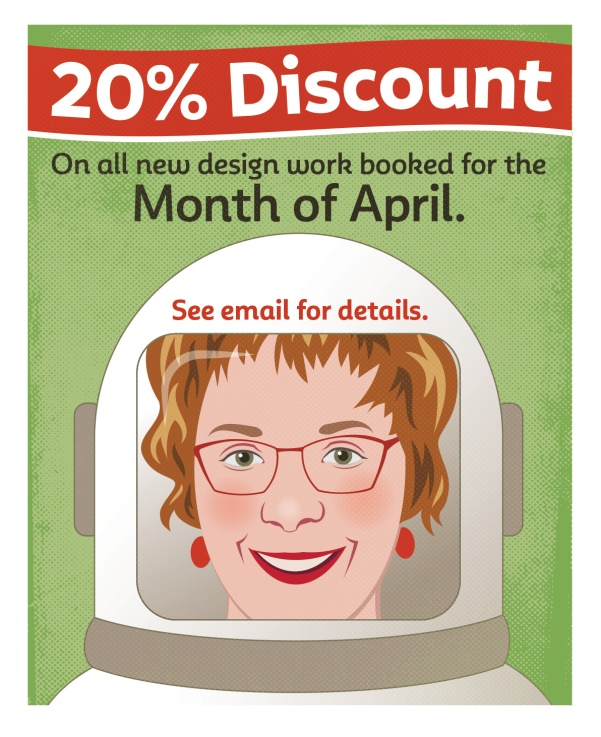 Social Distancing: An illustration created in the spring of 2020 to promote discount being offered to clients affected by COVID-19.